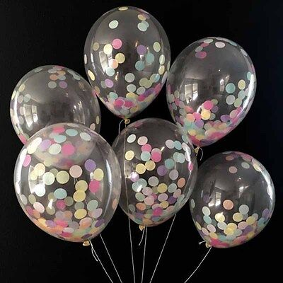 36 Inch Random Color Party City Birthday Balloons Transparent Large Clear EI KP