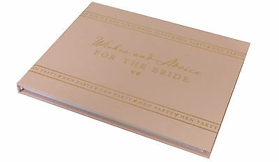 Hen Party Wishes + Advice Guest Book Memories Memento Scrap Book Party Planner