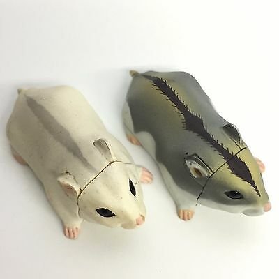 Choco Egg Mini Figure Djungarian Hamster Normal White 2pcs Set Kaiyodo Japan