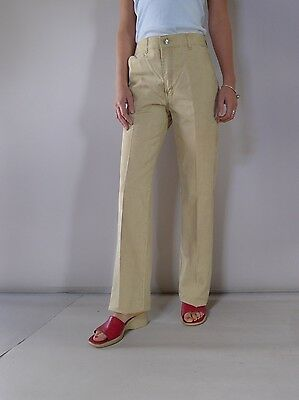 vintage retro true 70s S  dress jeans pants beige  Lee Cooper