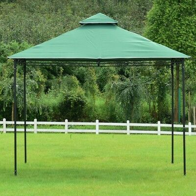 Outdoor Patio 2-Tiers 10' x 10' Wedding Party Tent Compact Gazebo Canopy Shelter