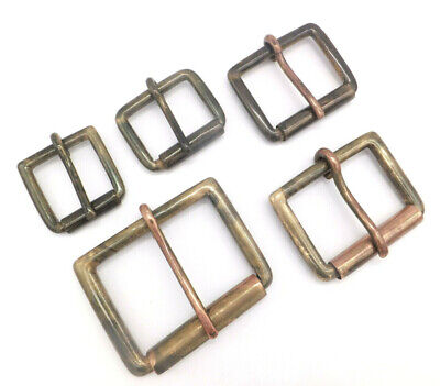 """[ANTIQUE] STRONG HEAVY DUTY SOLID BRASS SINGLE ROLLER BUCKLE 5 Sizes   1""""  - 2"""""""
