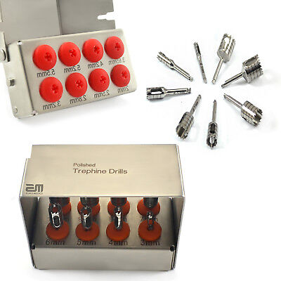 Surgical Trephine Drills Kit Implant Surgical Surgery Bur Holder Dental Tools CE