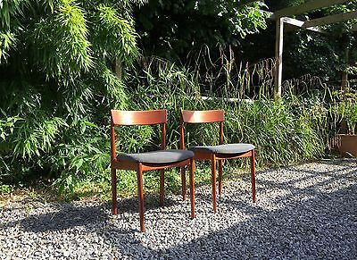 Danish chair designed by Henry Rosengren Hansen teak 2 available 60's mcm modern