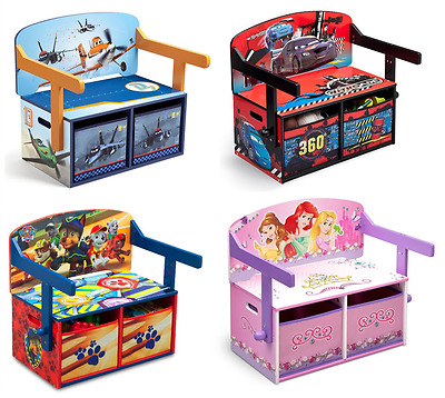 Choose From Character Convertible Bench Chair Desk Cars 3, Princess Paw Patrol
