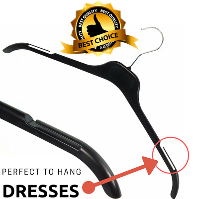 Durable Strong Black Plastic Dress Hanger, Clothes, Skirt, Jacket, All Garments