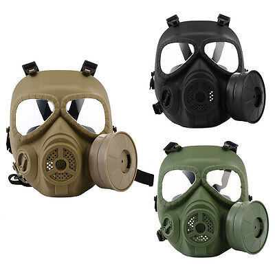 M04 CS Tactical Airsoft Wargame Paintball Helmet Gas Mask Goggles Equipment