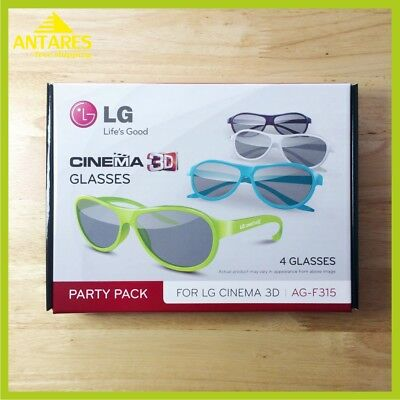 1 Pack = 4 Pcs. Passive 3D Glasses * Lg Ag-F315 * Lg Cinema 3D Tv * Party Pack *