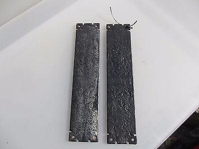 Vintage Cast Iron Finger Plates Push Door Handles Architectural Gothic Old Pair