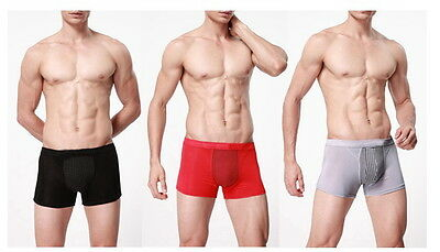 Mens Boxer Trunk shorts Underwear Tourmaline magnets back support penis health