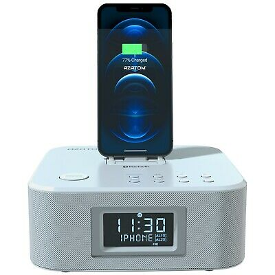 Docking station iPhone X 8 8+ 7 6 5 iPod iPad Bluetooth AZATOM HomeHub White