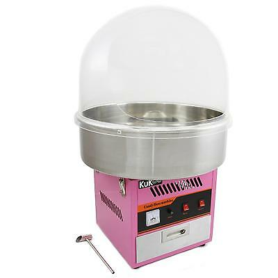 Candy Floss Making Machine Cotton Candy Maker & Acrylic Dome Fun Party Snacks