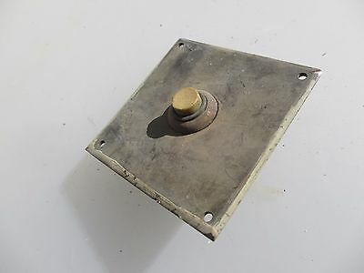 Vintage Brass Doorbell Door Bell Push button Copper Plated Art Deco Antique Old