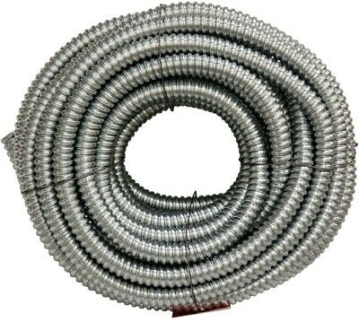 Flexible Steel Conduit 3/4 In 100 Ft Long Tube Electrical Wiring Metal Bending