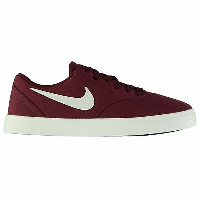 Nike SB Check Canvas Skate Shoes Juniors Red Trainers Sneakers