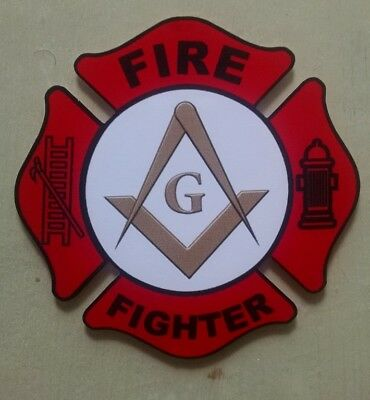 "Masonic Fire Department Decal (4"")"