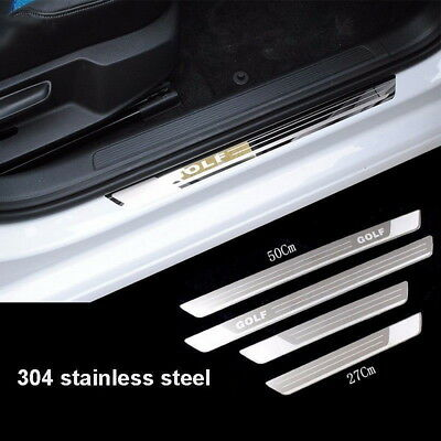 Stainless Slim Door Sill Scuff Plate Guard Trim For VW Volkswagen Golf 7 MK7 NM