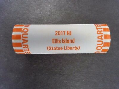 2017-D Ellis Island Atb - Bu Bank Wrapped Quarter Roll - Brand New - Just In!