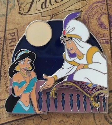 WDW Disney Love is an Adventure Aladdin Prince Ali and Jasmine Pin LE 750
