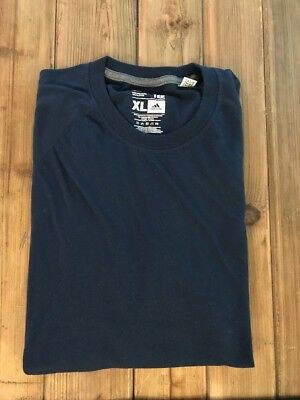 ADIDAS Men's Ultimate Short Sleeve Athletic Tee Shirt Navy Climalite X-LARGE