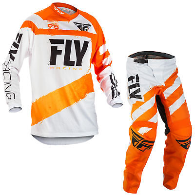 Fly Racing Mens & Youth Orange/White F-16 Dirt Bike Jersey & Pants Kit Combo MX