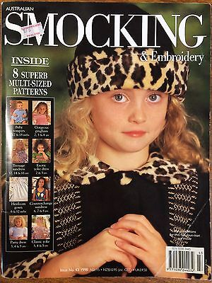 Australian Smocking & Embroidery - Issue 43 - 1998 -  Rare