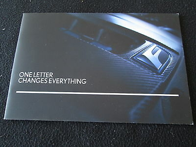2016 Lexus GSF Introduction Brochure GS-F V8 5.0 467hp RWD Small Sales Catalog