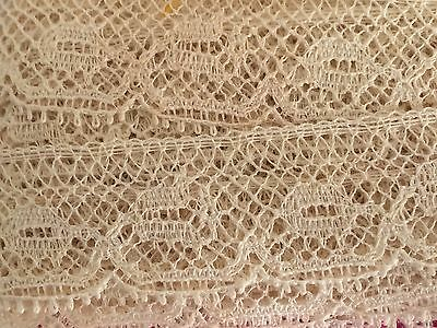 Antique French Edging Lace Beige 17 mm wide x 7.88 metres Cotton ~ 1940 - 50s
