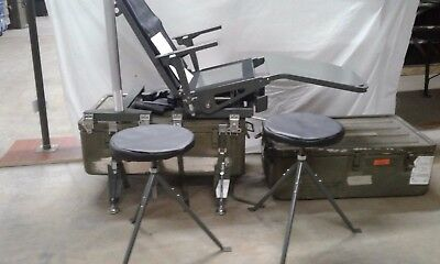 RARE Atlantic Industries Portable Optometry Chair with two Stools