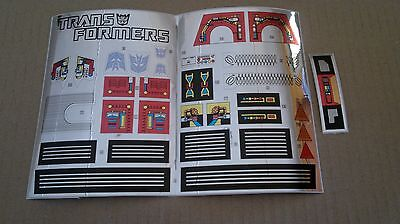 A Transformers premium quality replacement stickers/decals for G1 Megatron