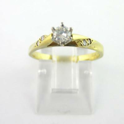18ct Yellow Gold Ring with Diamond, Sz M1/2, 2.35g, FREE POST