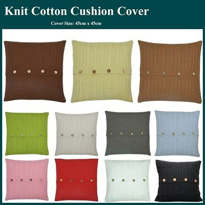 Cable Knit Knitted Soft Squar Throw Cushion Covers Home Decor Lounge Pillow Case