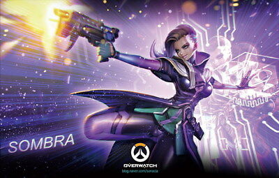 "031 Sombra - Overwatch Sexy Girl Hero Online Game Art Pinup 21""x14"" Poster"