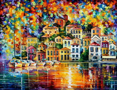 "001 Leonid Afremov - Melody Of The Night 18""x14"" Poster"
