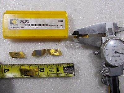 New Kennametal NG3M450RK 4.5 mm Wide RH Top Notch Groove Carbide Insert 5 Pieces