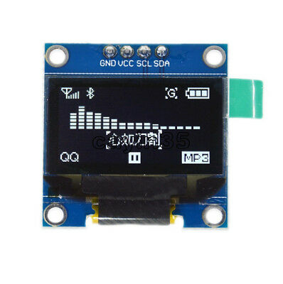 "0.96"" I2C IIC Serial 128X64 White OLED LCD LED Display Module for Arduino UK"