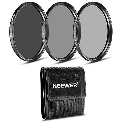 Neewer 67MM Lens Filter Set (ND2 ND4 ND8)