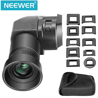 Neewer 1.25x-2.5x Right Angle Finder for Canon, Nikon, Pentax,  Fuji, Olympus