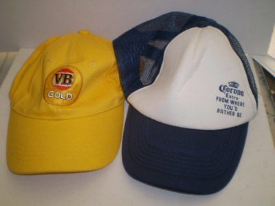 TWO  beer advertising caps -  Corona and VBGold