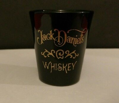 Jack Daniels Whiskey Black Shot Glasses For Home Bar Collector Great Condition