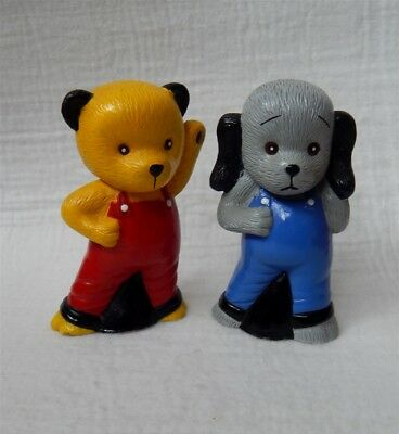 Sooty And Sweep Soft Plastic Squeeky Toys 1995 By Titan Toys 4.5""