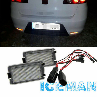 Plafon LED de Matricula Luz LED de Placa SEAT Altea 5P1 5P5 Arosa 6H Leon 1M1