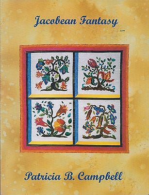 Jacobean Fantasy - Quilt Pattern by Patricia B Campbell - OOP & HTF