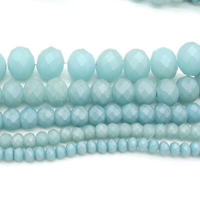 2017 new Rondelle Faceted Crystal Glass Loose Spacer Scrub Beads 3/4/6/8/10mm #5