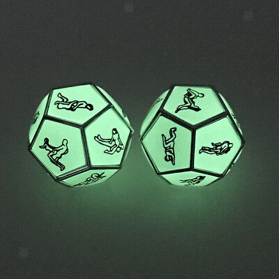 2x Sex Funny Adults Love Humour Gambling Sexy Position Romance Dice Toy Gift