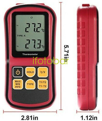 -50~300C Thermocouple Thermometer Dual-channel Digital Temperature Meter K/J/T/E