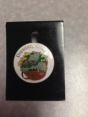 """Dresden, Ohio"" Pin showing Longaberger Basket"
