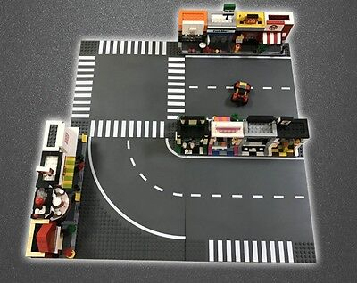 4 X Lego Compatible Road Base Plates 32X32 Studs Board For City Modular Building