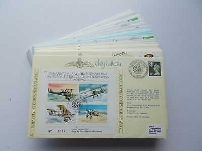 Royal Air Force Flown Covers. JSF Series, all signed. Each sold separately.