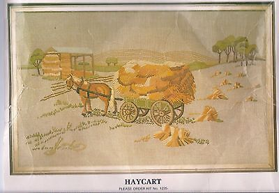 Vintage Creative Crewel Embroidery KIT by SEMCO:  HAYCART  - Unused